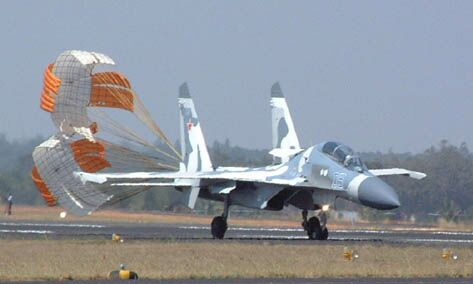 Su-30MKI at Aeroindia 2001 - PHOTO: Jane's